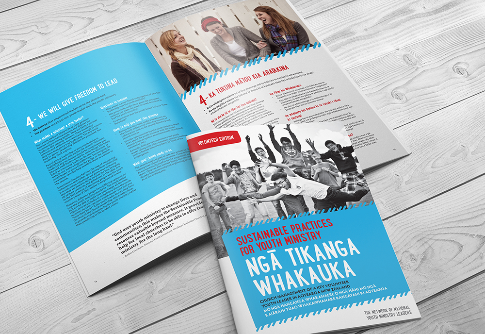 Print graphic design by Two Sparrows for Youth leaders resource
