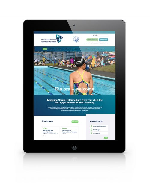 Takapuna Normal Intermediate School website screenshot