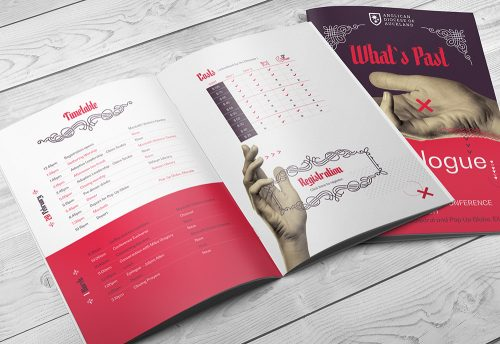 Conference brochure design by Two Sparrows