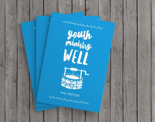 Cover graphic design for Youth Ministry Well resource