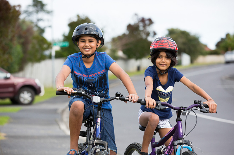 two children on bikes