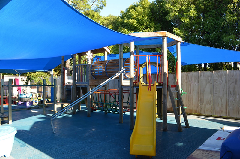 Childrens outdoor playground at Jojos Childcare